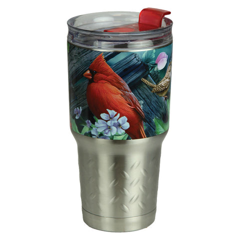 Birds 24 Oz Stainless Steel Beverage Tumbler