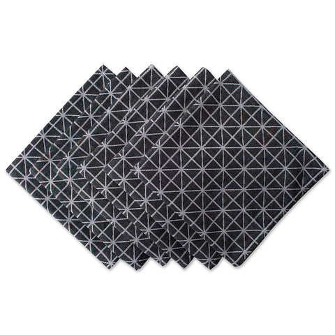 Black and White Triangle Dinner Napkins