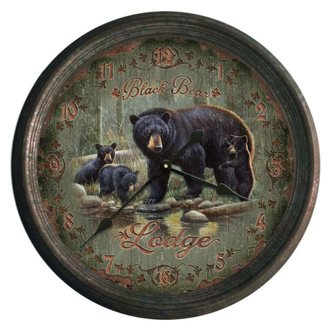 Black Bear Lodge Clock