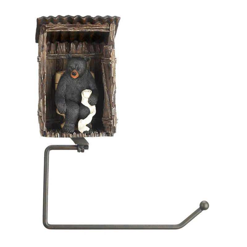 Black Bear Outhouse Toilet Paper Holder 10016198