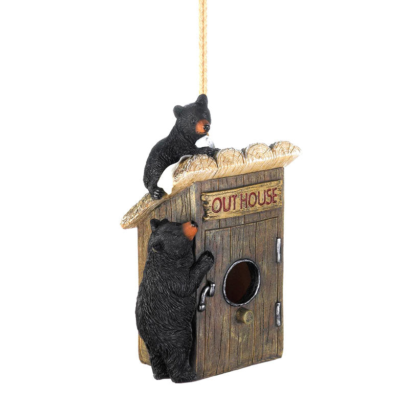 Black Bears Outhouse Birdhouse 10018985