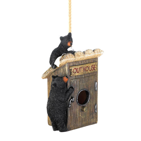 Black Bears Outhouse Birdhouse
