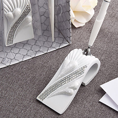 Bling Heart Wedding Day Pen Set