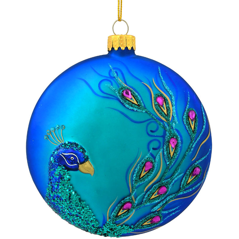 Blue Peacock Disc Ornament 1198193