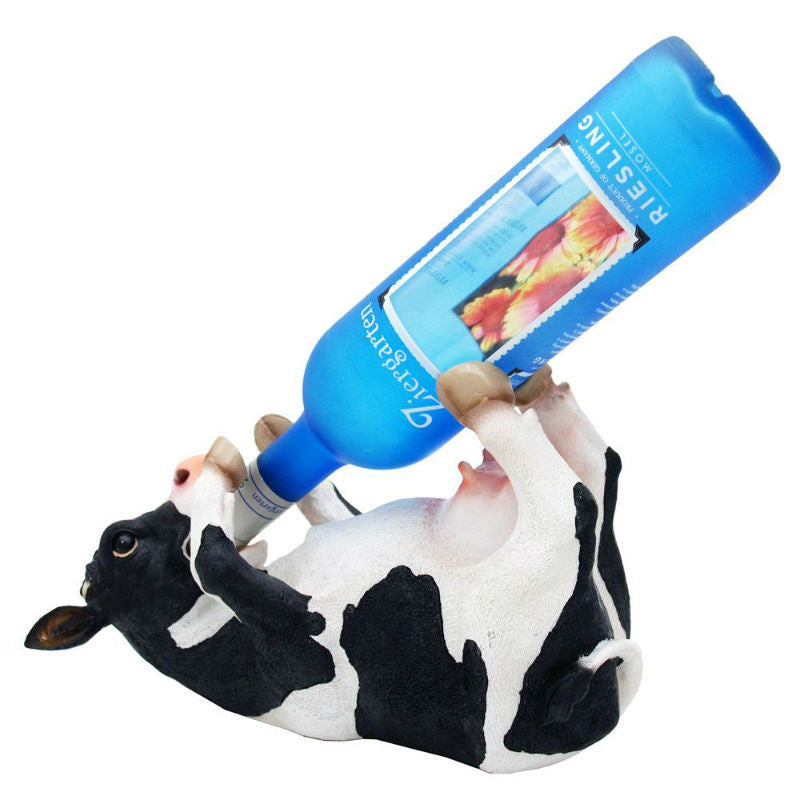 Bovine Brew Cow Wine Bottle Holder 6734