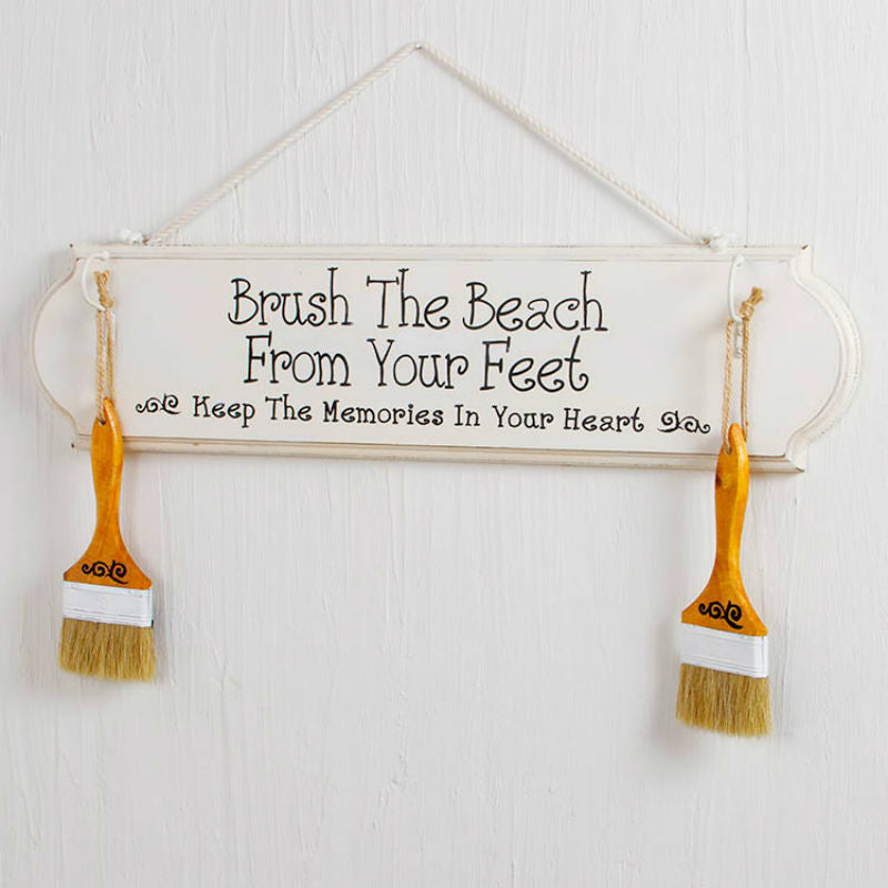 Brush The Beach From Your Feet Sign 12729