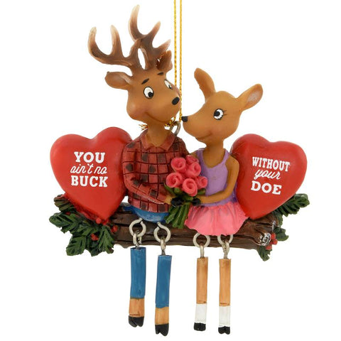 Buck and Doe Deer Ornament