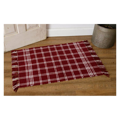 Burgundy Window Pane Scatter Rug