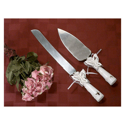 Butterflies Cake Knife Serving Set