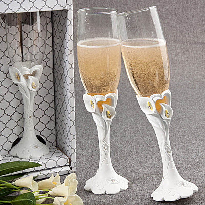 Calla Lily Toasting Flutes 2451