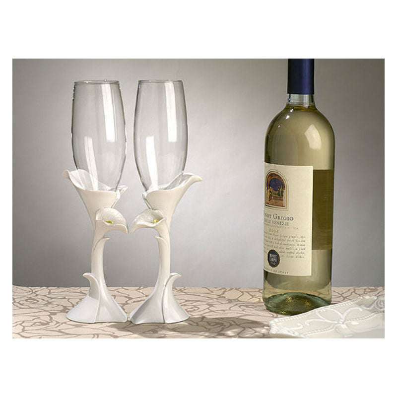 Calla Lily Toasting Glasses 400