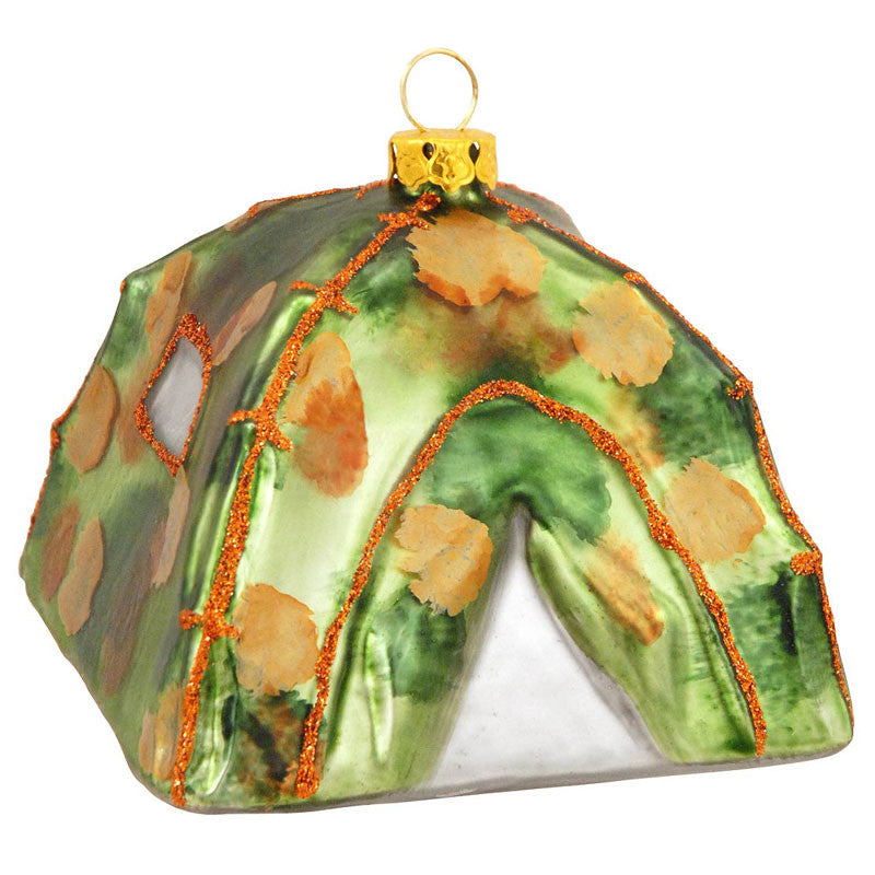 Camouflage Tent Glass Ornament 1150938