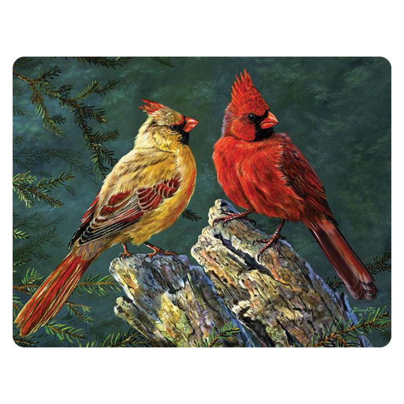 Cardinal Birds Tempered Glass Cutting Board 757