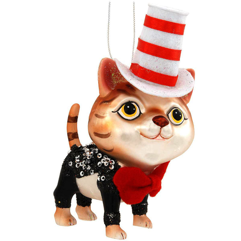 Cat In Suit and Hat Glass Ornament 1189577