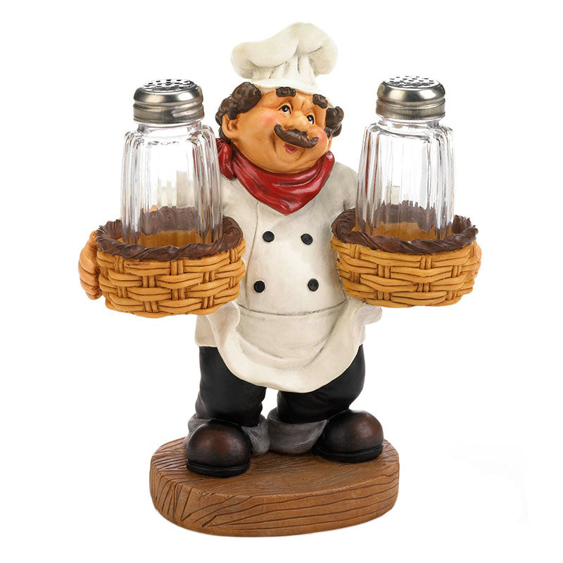 Chef Salt and Pepper Shakers Holder 10019051