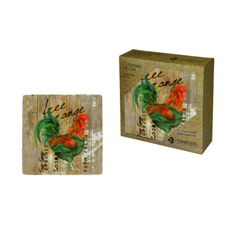 Chicken Speak Free Range Coasters 80159