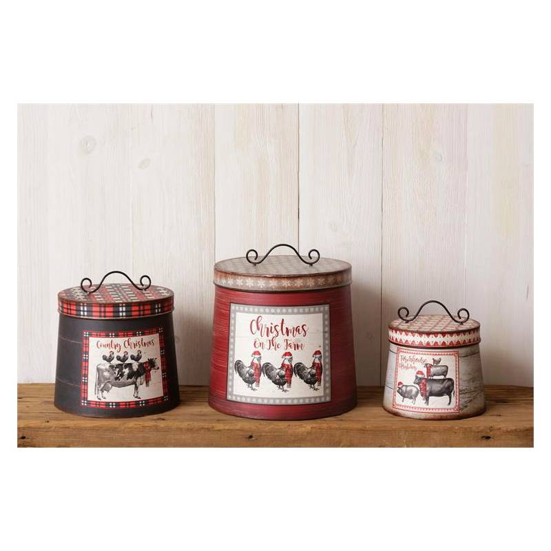 Christmas On The Farm Kitchen Canisters 7T1524