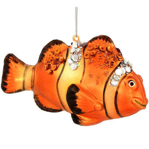 Clown Fish Glass Ornament