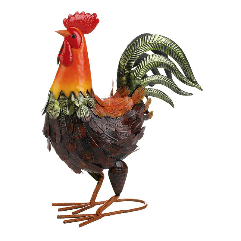 Colorful Metal Rooster Figurine 10019092