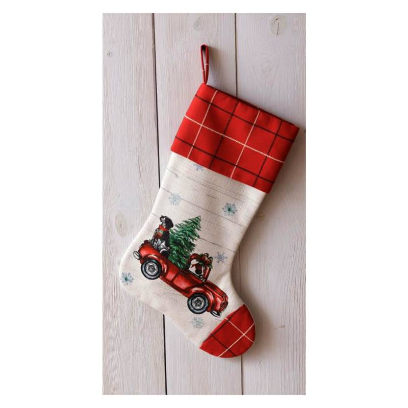 Coming Home Red Truck Christmas Stocking 7FA1075
