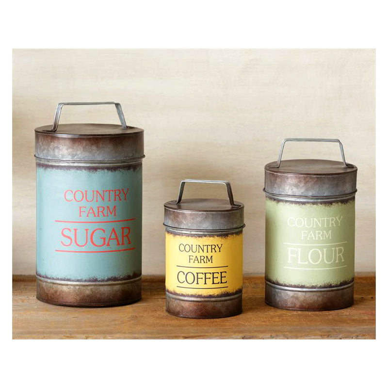 Country Farm Kitchen Tins 8D4524