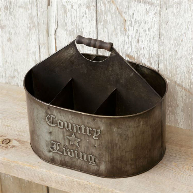 Country Living Divided Tin Caddy 8T1051