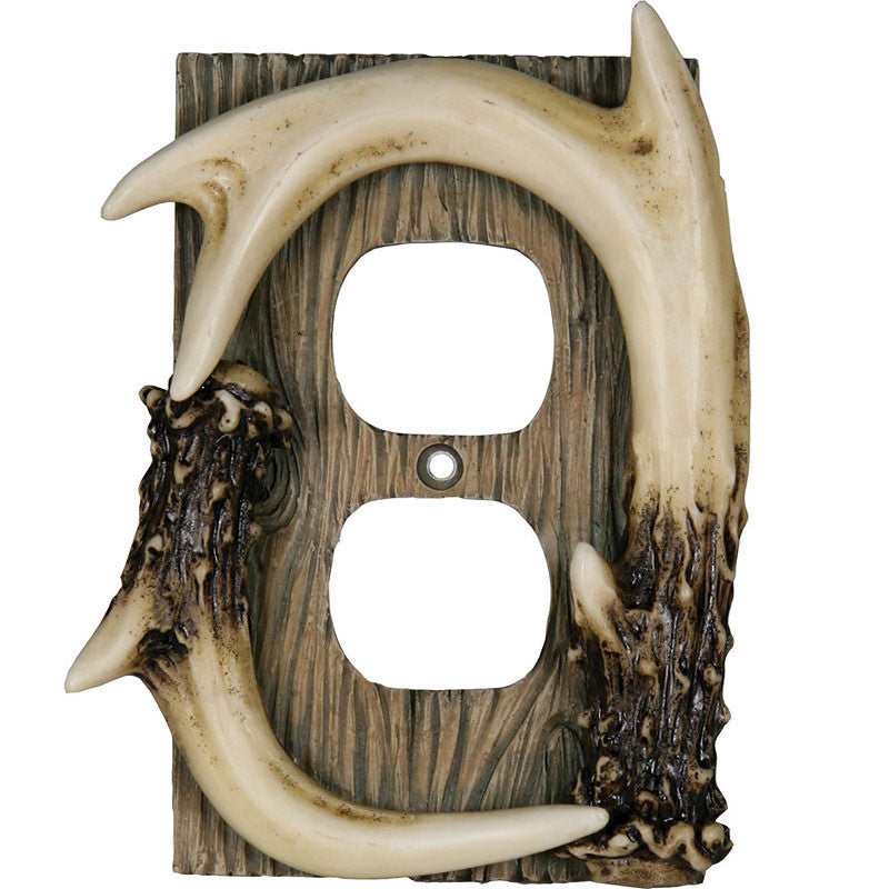 Deer Antler Single Outlet Cover 550