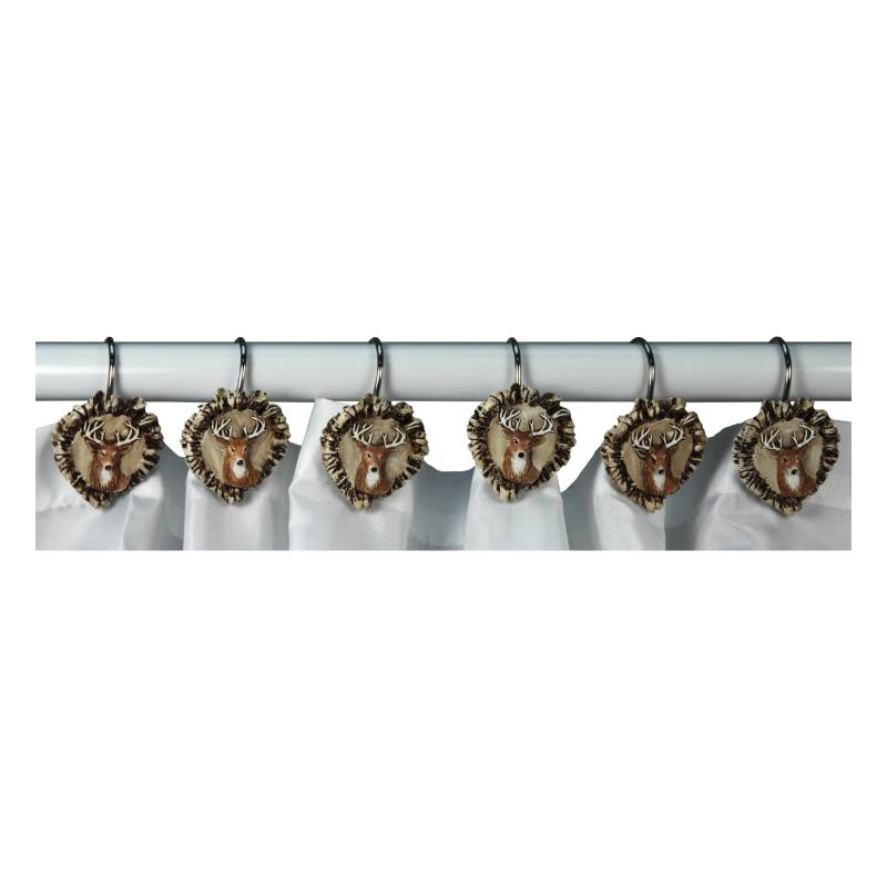 Deer Antler Shower Curtain Hooks 647