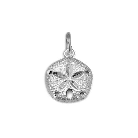Diamond Cut Sand Dollar Charm Pendant