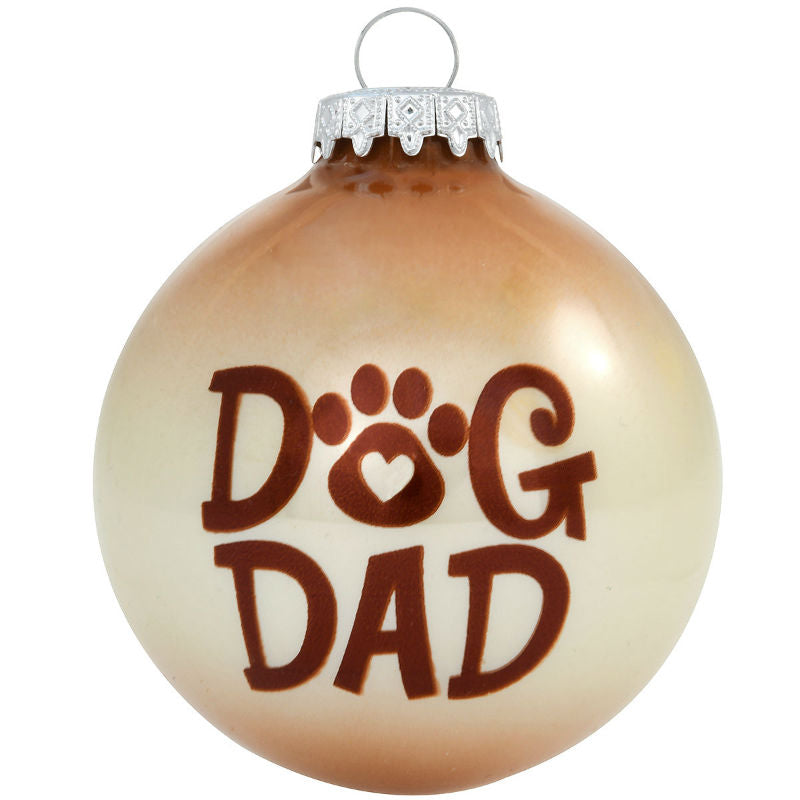 Dog Dad Glass Ornament 1200408