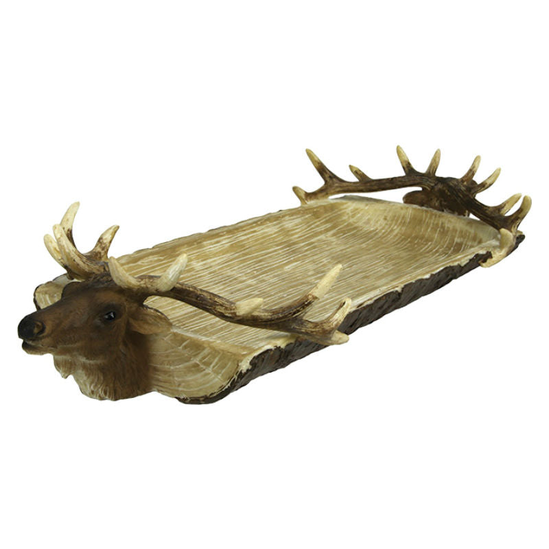 Double Elk Head Serving Tray 871