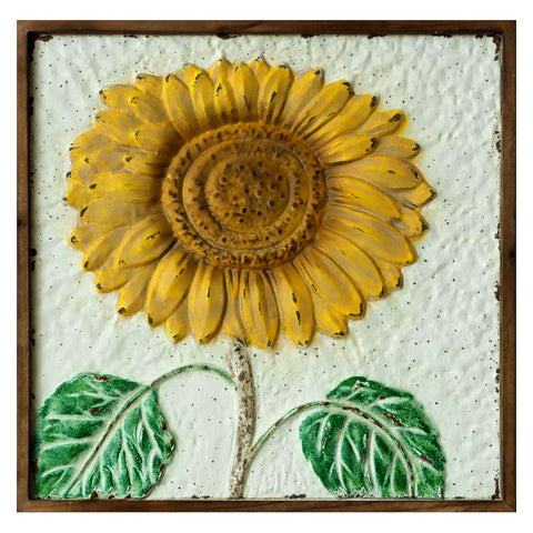Embossed Sunflower Wall Hanging