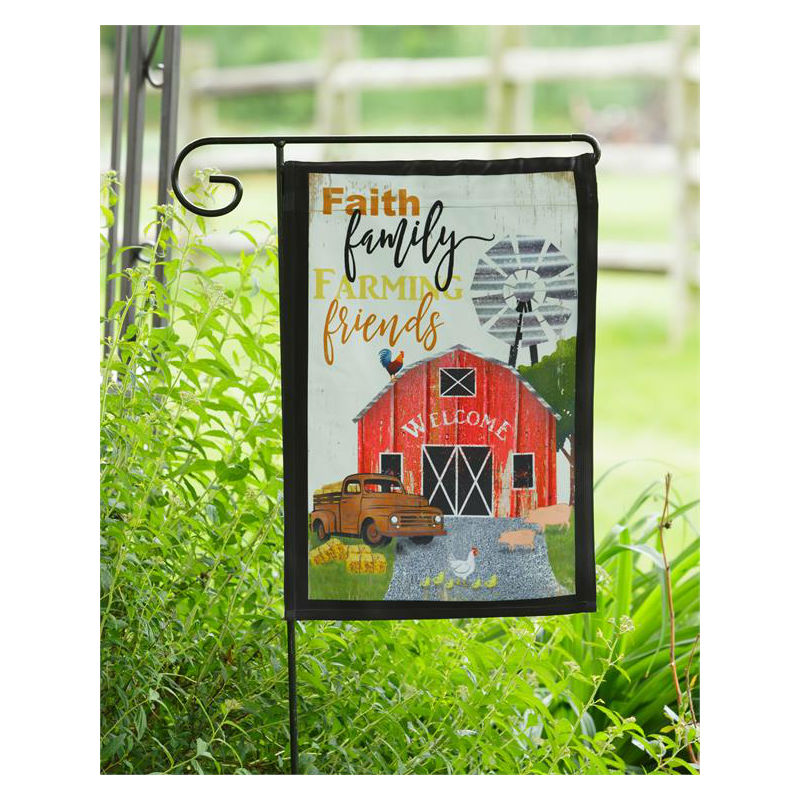 Faith Family Farming Friends Garden Flag 8FL414