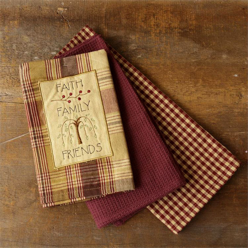 Faith Family Friends Kitchen Tea Towels 8FA694