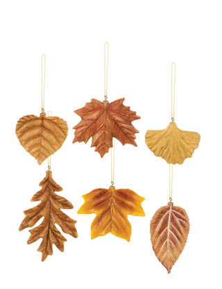Fantasy Forest Fall Leaf Ornaments 70592