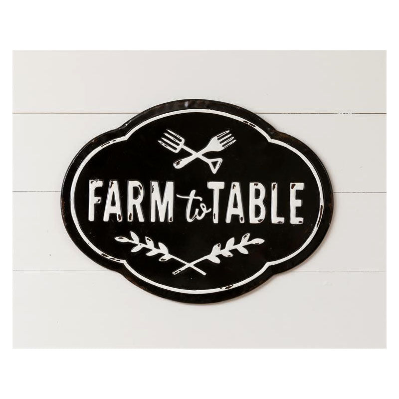 Farm To Table Metal Sign 8T1738