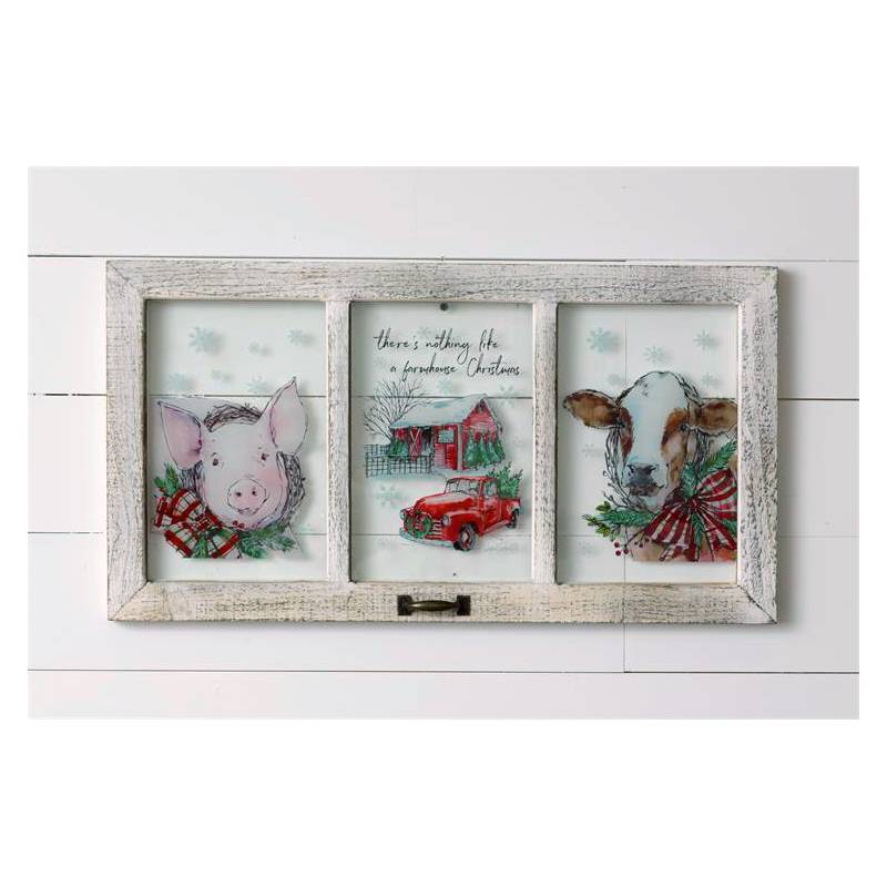 Farmhouse Christmas Window Pane 7WH733