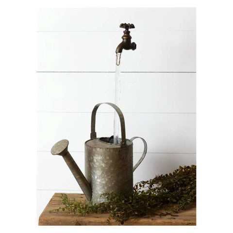 Faucet With Watering Can Garden Fountain