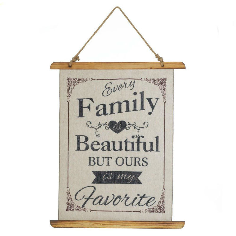 Favorite Family Linen Wall Canvas 10018387
