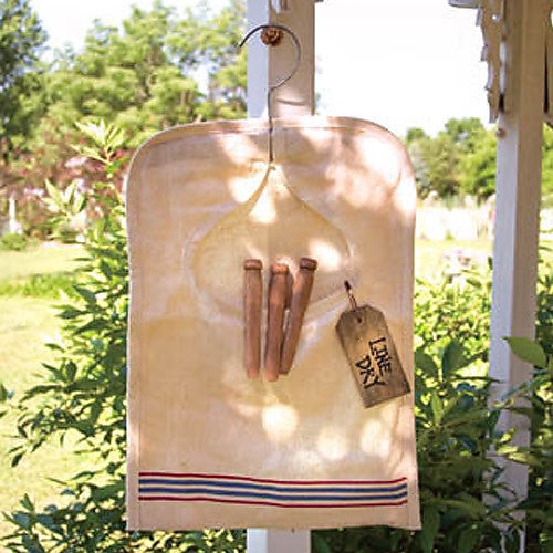Vintage Feedsack Clothes Pin Bag 32130