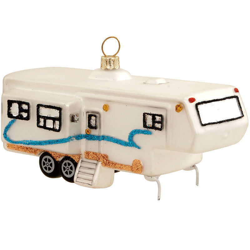 Fifth Wheel Camper Glass Ornament 1187894