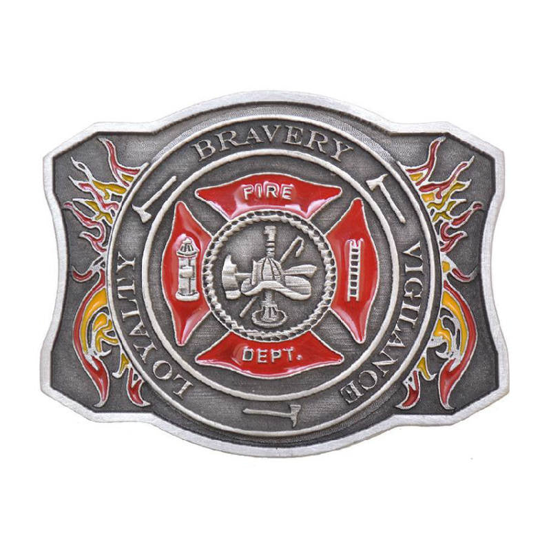 Fire Department Maltese Cross Belt Buckle JD-88