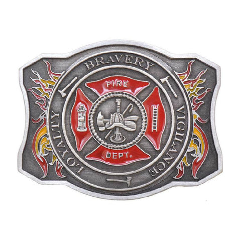 Fire Department Maltese Cross Belt Buckle