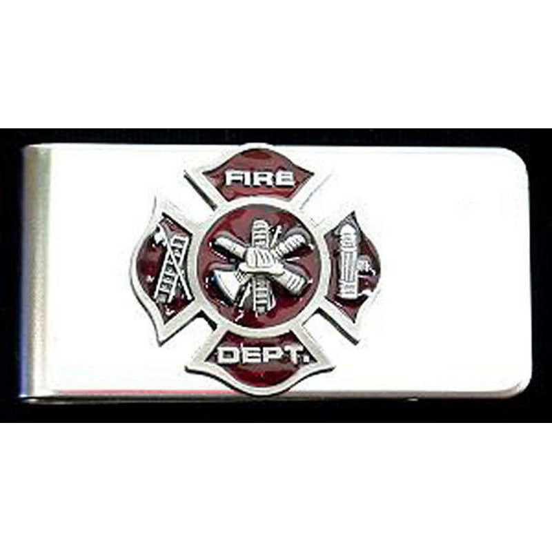 Firefighters Stainless Steel Money Clip MC-29