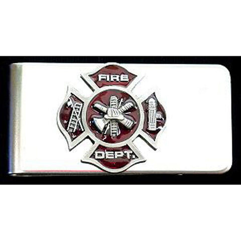 Firefighters Stainless Steel Money Clip