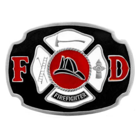 Firefighter Maltese Cross Belt Buckle