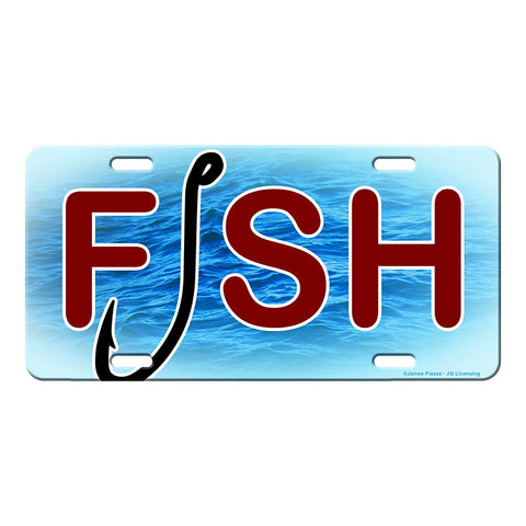 FISH and Hook Fishing Vanity License Plate