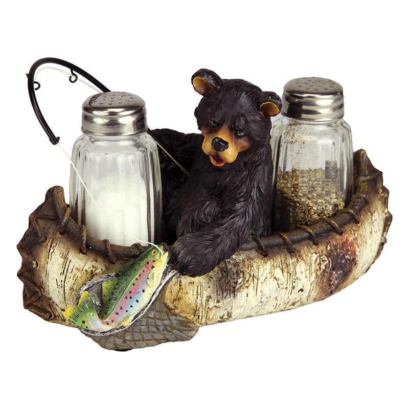 Fishing Bear Salt and Pepper Shakers 570