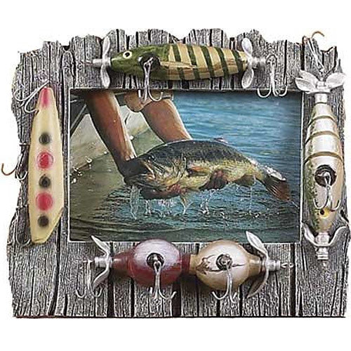 Fishing Lures & Driftwood 4x6 Photo Frame 464