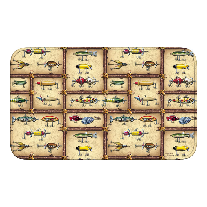 Fishing Lures Foam Bath Mat 1854